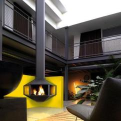 Simple Ceiling Designs For Small Living Room Library Ideas 25 Hanging Fireplaces Adding Chic To Contemporary Interior ...