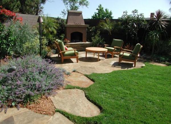 green backyard landscaping ideas