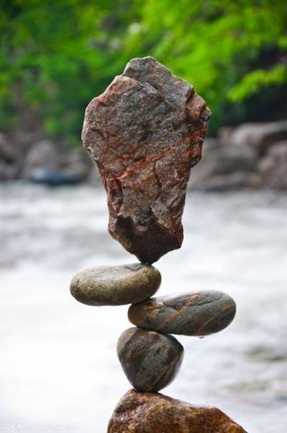 Balanced Rock Sculptures by Land Artist Michael Grab