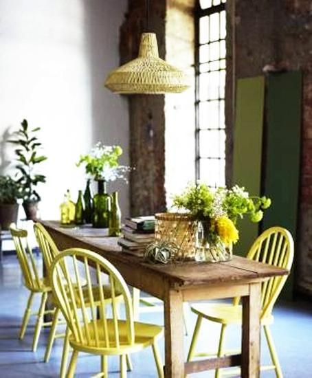 Pale Green Dining Room
