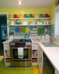 Small Kitchen Designs in Yellow and Green Colors ...