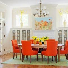 Orange Living Room Designs Pink Accessories 25 Ideas For Modern Interior Decorating With Color Shades Dining Chairs And Wall Painting