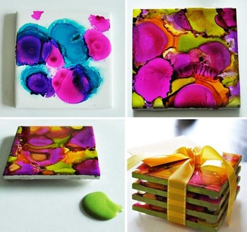simple ceramic tile painting ideas