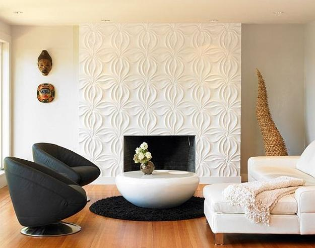 wall panels for living room decor yellow decorative adding chic carved wood patterns to modern paneling accent design
