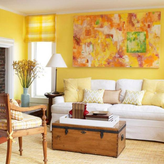 living room decorating ideas colors schemes small without fireplace luminous interior design and shining yellow color