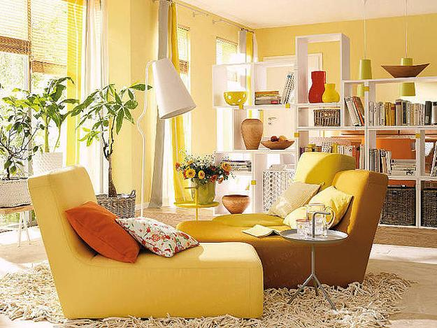 French Fall Wallpaper Luminous Interior Design Ideas And Shining Yellow Color