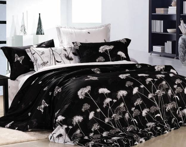 Free Fall Color Wallpaper High Contrast Bedroom Decorating With Modern Bedding Sets