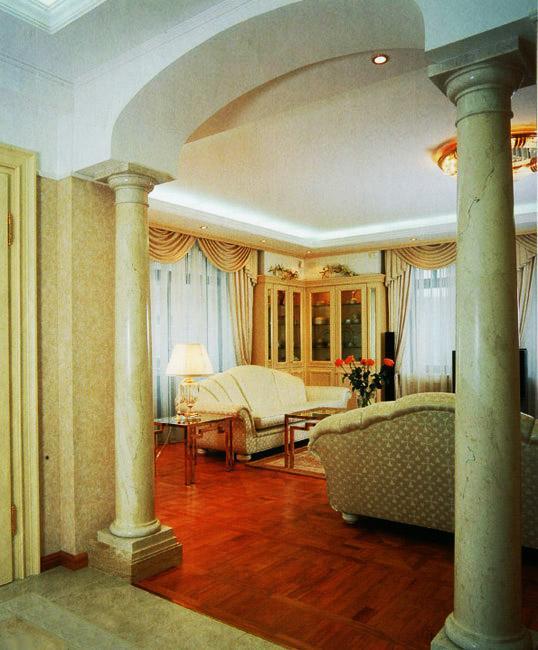 living room colour schemes 2016 contemporary interior design ideas for rooms 35 modern incorporating columns into ...