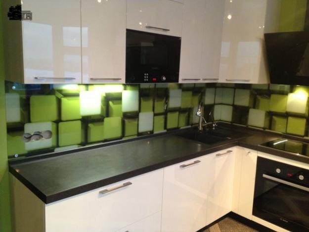colorful kitchen cabinets lighting ideas for glass backsplash adding digital prints to ...