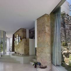 Light Green Living Room Decor Interior Design With Flat Tv Modern House Celebrating Old Stone Walls And ...