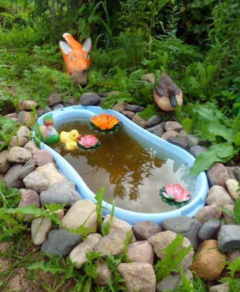 Small Pond Ideas Garden