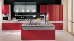 75 Plus 25 Contemporary Kitchen Design Ideas, Red Kitchen