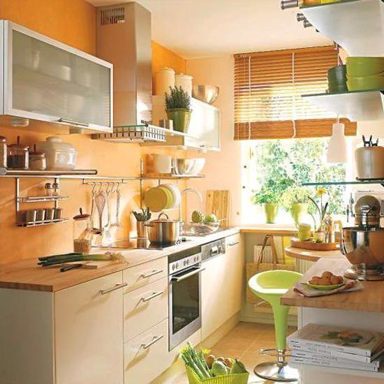 orange and green kitchen decor Orange Kitchen Colors, 20 Modern Kitchen Design and