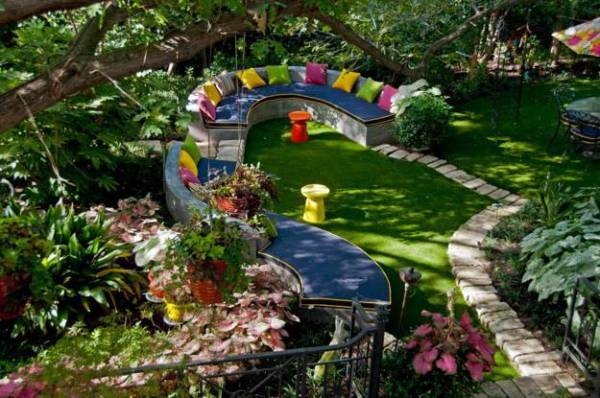 beautiful garden design and backyard