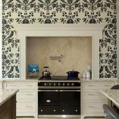 Updated Kitchens Industrial Kitchen Hardware White Cabinets And Modern Wallpaper, Ideas For ...