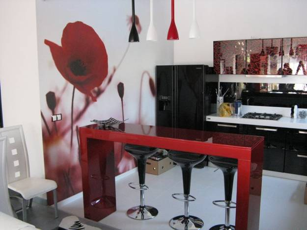 latest kitchen designs affordable islands 225 modern kitchens and 25 contemporary in black white interior with red accents