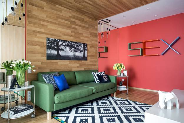Bright Room Colors and Provocative Interior Design and