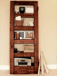 25 Ways to Reuse and Recycle Wood Doors for Shelving Units ...