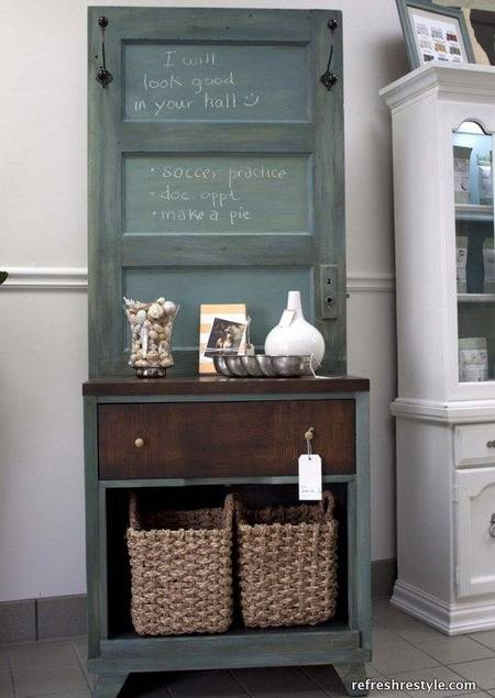 Having a small space may include more storage challenges, but that doesn't mean you can't enjoy a beautiful space. Unique Vintage Furniture Recycling Wood Doors, 30 Modern Ideas
