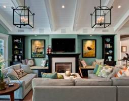 30 Multifunctional and Modern Living Room Designs with TV ...