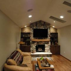 Living Room Fireplace Tv Ideas Decorating For With Dark Brown Furniture 30 Multifunctional And Modern Designs Creative Mantel The