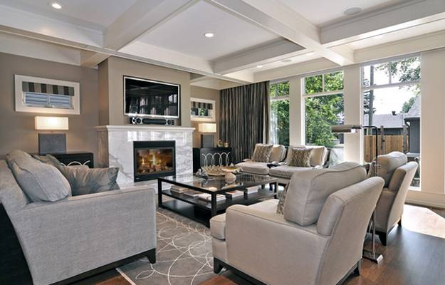 living room ideas with fireplace wall colors grey furniture 30 multifunctional and modern designs tv placement around