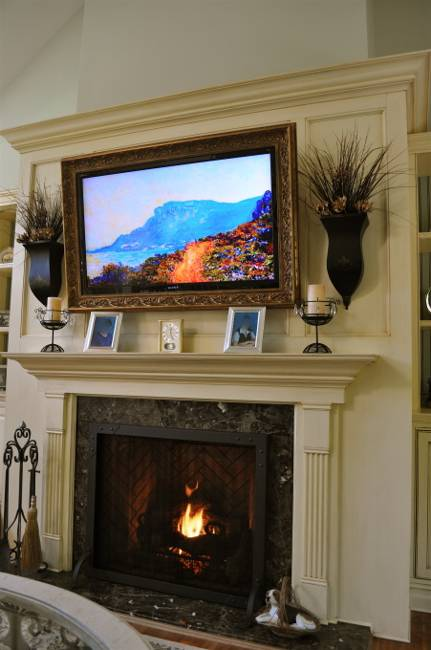living room ideas with tv and fireplace rustic wall paint colors 30 multifunctional modern designs creative mantel decorating the