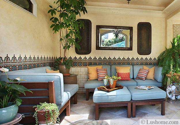 moroccan style living room accessories small designs with tv 20 decor ideas for exotic and glamorous outdoor rooms