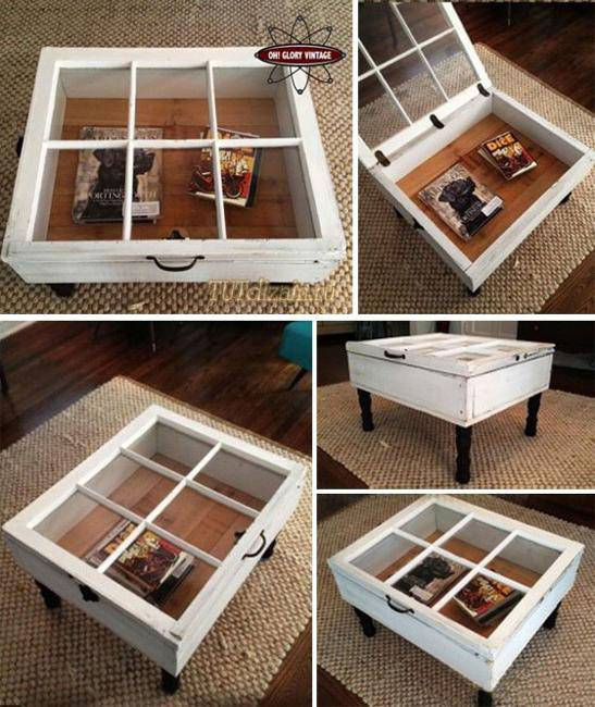 Recycling Old Wood Windows and Doors for Modern Interior Design