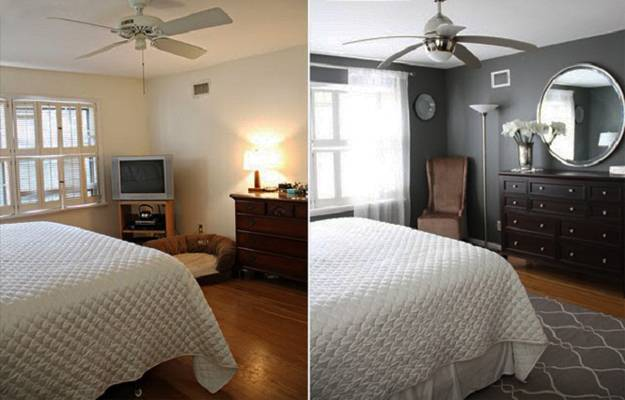 Small Repairs and Room Makeovers for Home Staging Before and After Interior Redesign