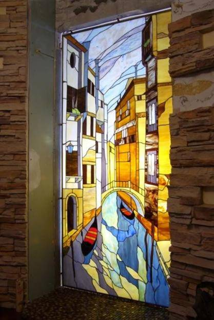Stained Glass Painting Ideas Bringing Spectacular Colors into Modern Interior Design