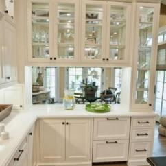 White Kitchen Cabinets Glass Doors Outdoor Kitchens Images Decorating With Brings Light Into Modern