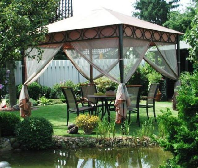 Metal Gazebo Designs And Placement Ideas