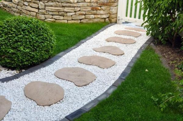 stone walkways and garden path