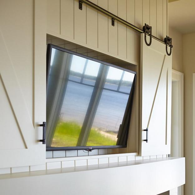 Decorative Wall Panel Designs Screens and Hanging Doors to Hide TVs