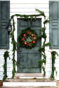 25 Beautiful Christmas Wreaths and Garlands, Winter Door ...