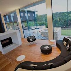 Circular Couches Living Room Furniture Black And Grey Curtains 20 Modern Designs With Stylish Curved Sofas Colorful Sofa Ottomans Decorating Pillows In Various Colors