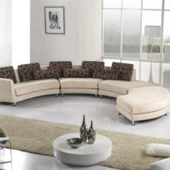 Circular Couches Living Room Furniture Ashley 20 Modern Designs With Stylish Curved Sofas Sofa And Round Coffee Table In White Contemporary Style