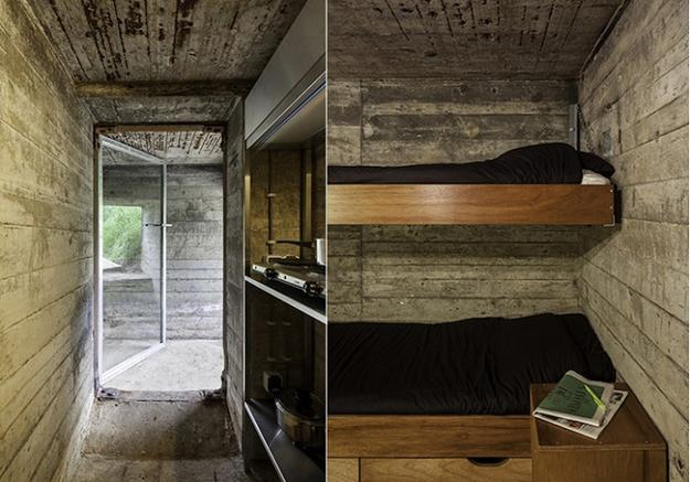 Conversion Design Idea Transforming Military Bunker into Small Country Home