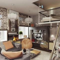 New York Loft Style Living Room Modern Leather Furniture 15 Designs Adding Second Floor To Interiors