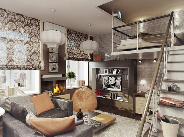 decorated living rooms images room ideas for first apartment 15 loft designs adding second floor to modern interiors