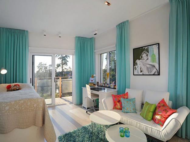 house of turquoise living room furniture wood 22 ideas to use blue color for modern interior design and bright yellow brown colors decorating