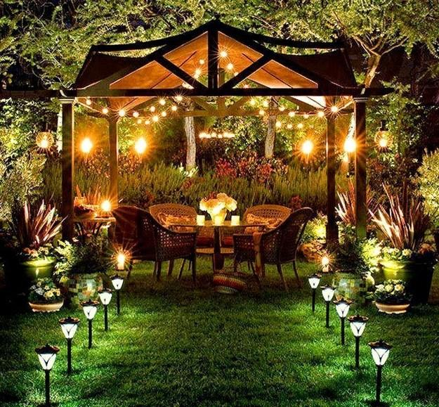 Decorating with Outdoor Lights to Romanticize Backyard Designs