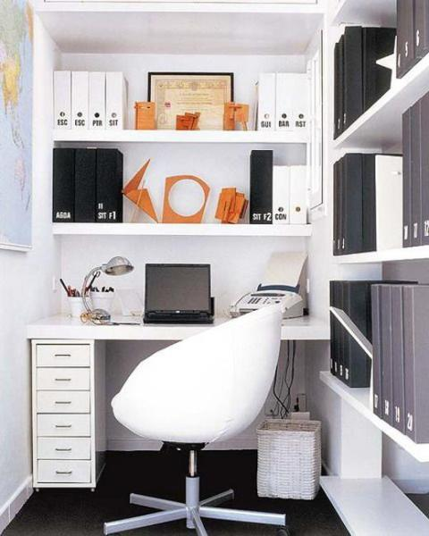 space saving home office idea 22 Space Saving Ideas for Small Home Office Storage