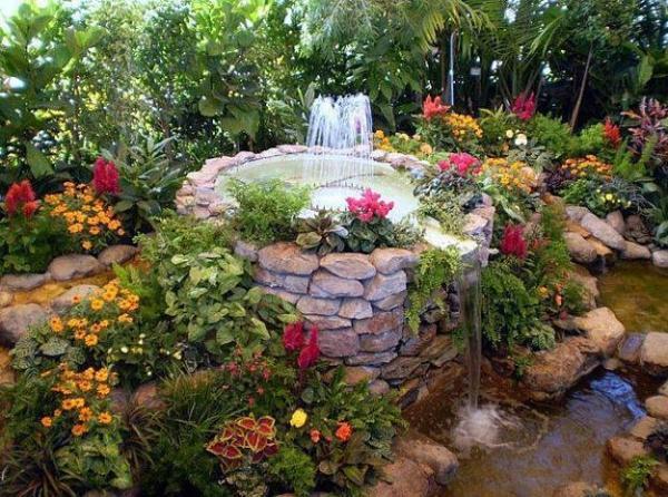 beautiful garden design optical