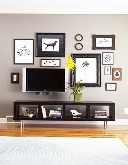 hiding tv in living room small cabinets for 20 attractive home decorating ideas to hide decorative screen
