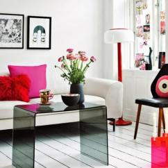 Interior Design Ideas For Living Rooms Modern Turquoise And Black Room 15 Space Saving 10 Tricks To Maximize Small With Open Furniture Simple Lines White Decorating Bright Color Accents In Red Pink