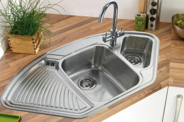 small kitchen sinks industrial cabinets modern kitchens with space saving and ergonomic corner design sink stainless steel appliances