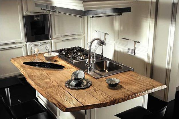Amazing Wood Kitchen Countertop Ideas Adding Exotic Look