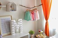 Girls Bedroom Decorating with Bright Orange Color Accents ...